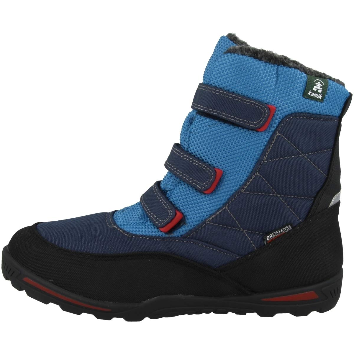 Kamik Boys' Hayden Snow Boot, Navy/Blue, 5 Medium US Big Kid