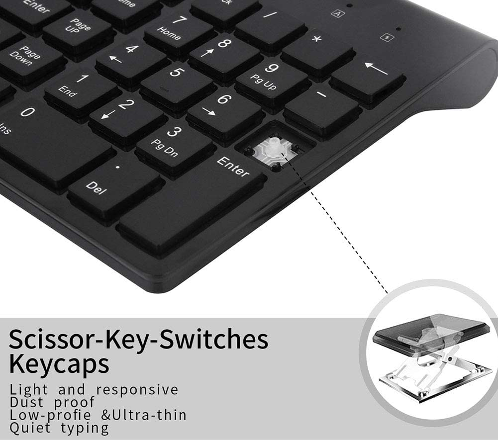 2.402-2.480Ghz Wireless Technology Connectivity 6-10 Meters Ultra Slim JSX Keyboard and Mouse Set Full Size Ergonomic Silent Keyboard Mouse