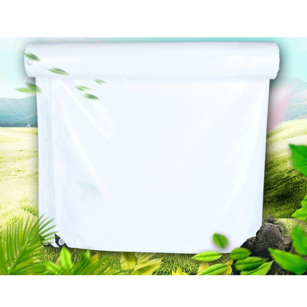 ポータブルホワイトPVCナイフクロス防水日焼け止め防水布防水布専用ローラローラー(350g/m²) (サイズ さいず : 4 * 4m) B07F7ZVPKW 4*4m  4*4m