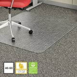 Lorell Rectangular Chair Mat, 46 by 60-Inch, Clear