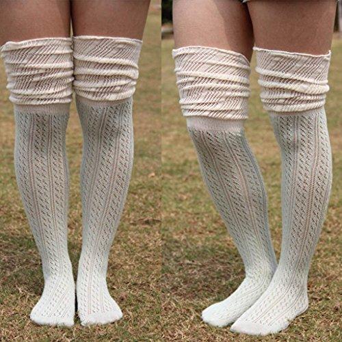 Winterkousen Voor Dames, Bijv. Mijn Dames Uitgesneden Mesh Overknee Dij Hoge Kousen Sokken Functie: Groen