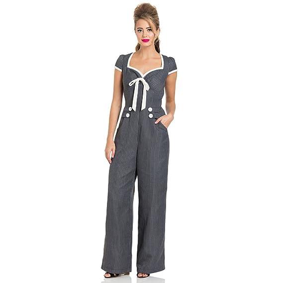 1deb18238ab8 VOODOO VIXEN Women s Jumpsuit Grey Grey  Amazon.co.uk  Clothing