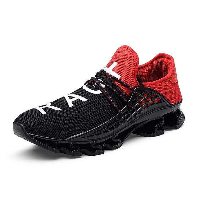 94b309df3ad WL Zapatillas de Deporte Unisex, Ligero Malla Suave Cómoda Transpirable  Zapatillas de Running para Correr Trail Fitness,red,42: Amazon.es: Ropa y  accesorios