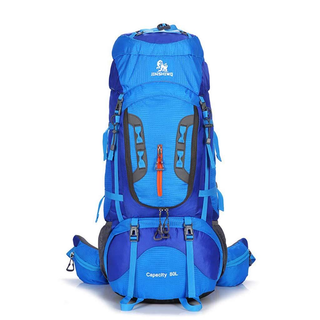 Adulte Trekking Sac à Dos 80L étanche Randonnée Sac à Dos en Nylon Alpinisme Sac à Dos avec Housse De Pluie Ultralight Camping Randonnée en Plein Air Sport pour Hommes Femmes  -