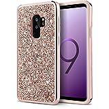 Galaxy S9 Plus Case, S9 Plus Glitter Case, UrbanDrama Slim Luxury Fashion Bling Shockproof Dual Layer TPU Bumper Case for Samsung Galaxy S9 Plus (2018) - Rose Gold