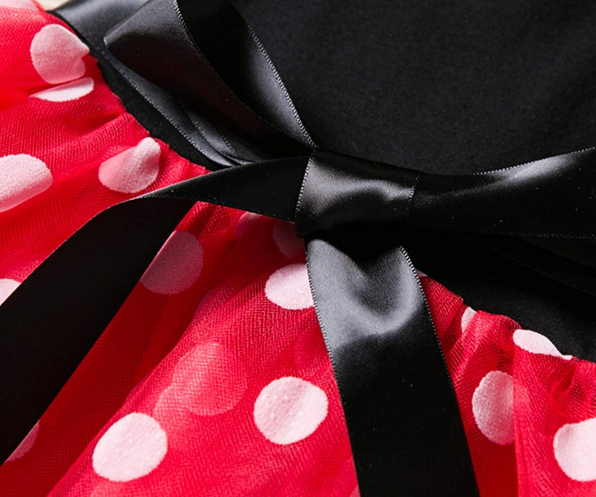 Nileafes Girls Princess Mini Mouse Costume Toddler Birthday Party Fancy Dress Up