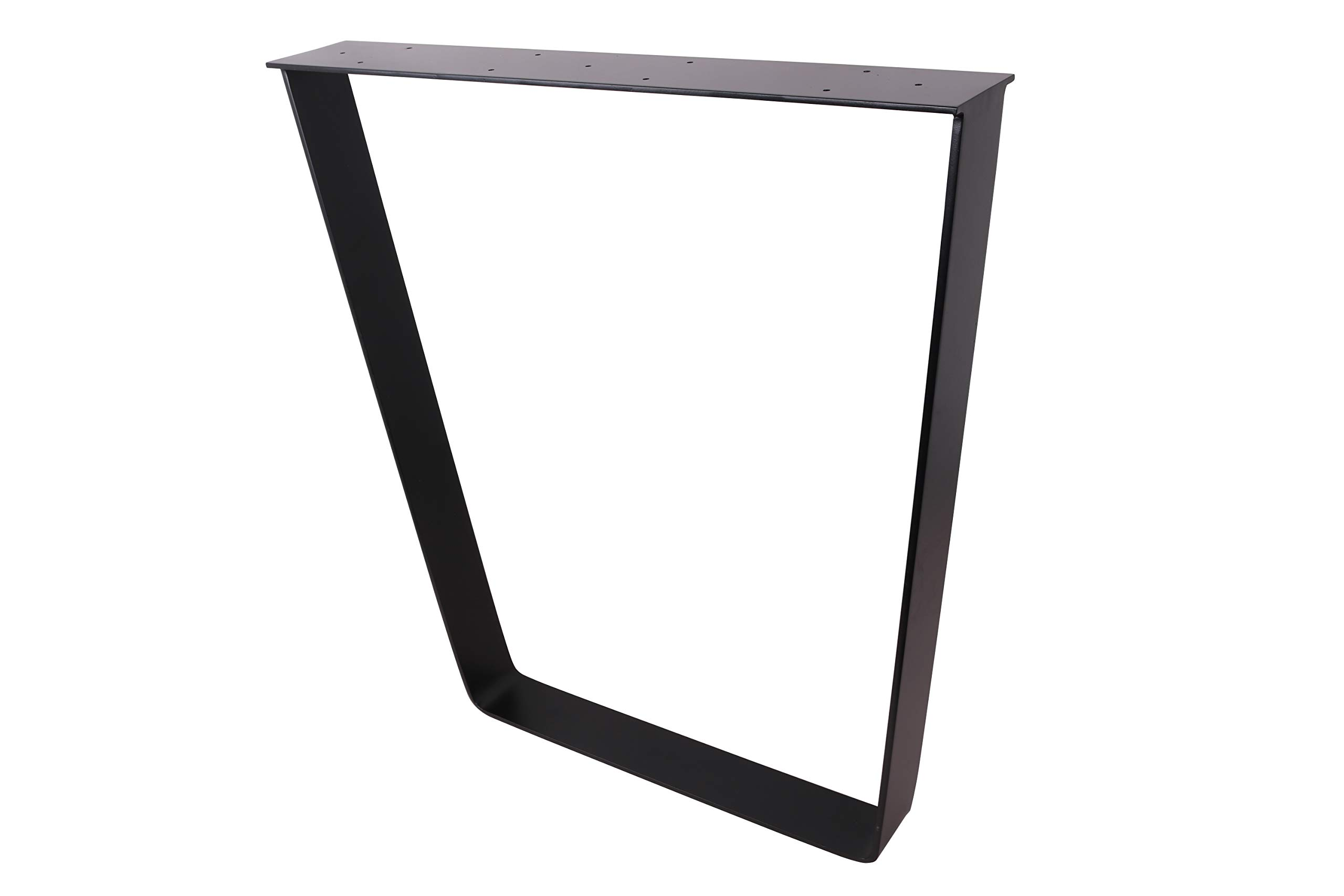 2 x 28'' Trapezoid Shaped Dining Table Legs, Heavy Duty Inverted trapezoidal Steel table legs, Office Table Legs,Computer Desk Legs,Industrial kitchen table legs,Country Style Table Legs,Set of 2,Black by ECLV (Image #3)