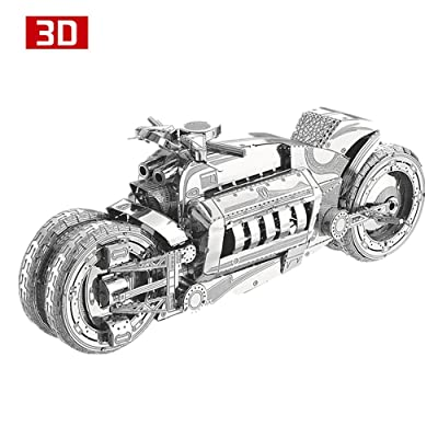 MoTu 3D Metal Puzzle Concept Motorcycle Assemble Model Kits I22215 DIY 3D Laser Cut Jigsaw Toys: Toys & Games
