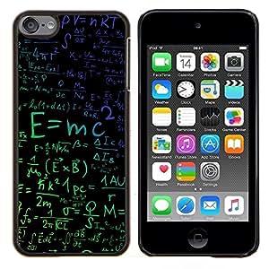 """Be-Star Único Patrón Plástico Duro Fundas Cover Cubre Hard Case Cover Para iPod Touch 6 ( E = mc2 Física"""" )"""