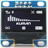 Kuman 0.96 pouces, Module Blanc IIC OLED série I2c IIC ,128x64 LCD screen écran pour Arduino Raspberry Pi