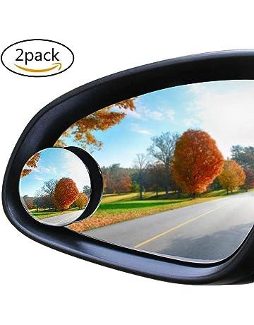 Lymocha 2piezas Coche Vidrio Pequeño Espejo Redondo , Espejo Retrovisor Ciego de 360 Grados con Rotación