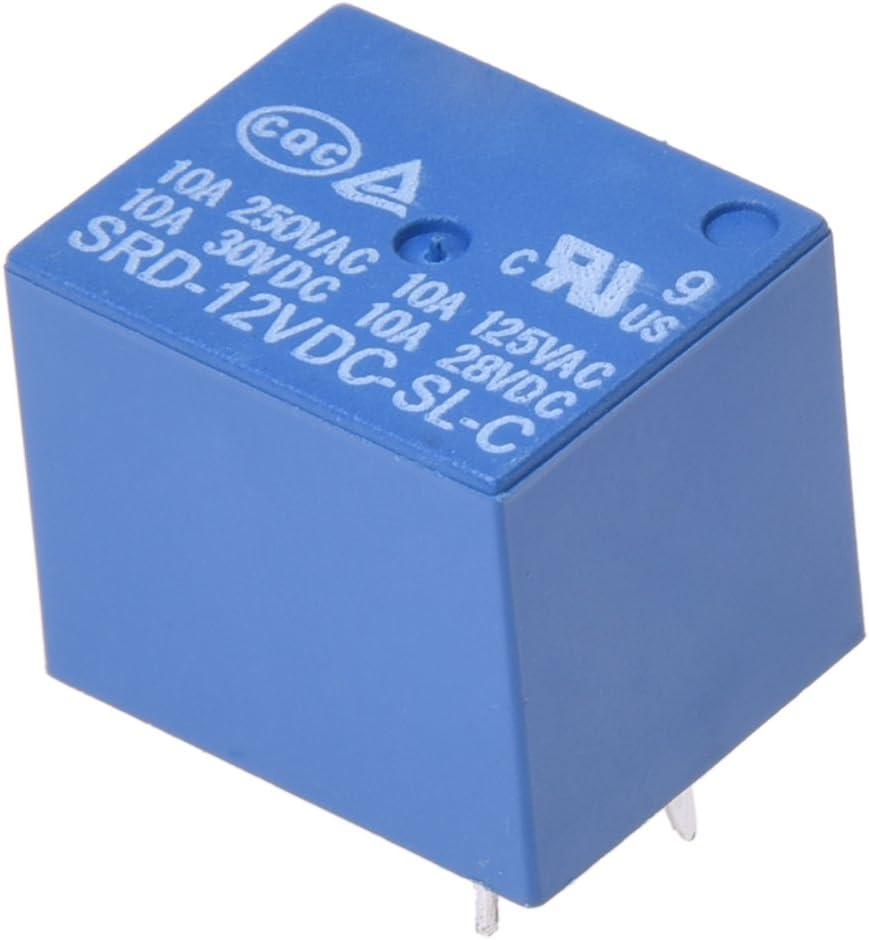 WOVELOT 10 pcs 12V DC 10A 5 Pin Power Relay SRD 12V