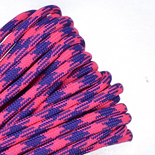 Bored Paracord - 1', 10', 25', 50', 100' Hanks & 250', 1000' Spools of Parachute 550 Cord Type III 7 Strand Paracord Well Over 300 Colors - Nerds - 50 Feet