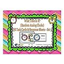 What Time Is it? QR Task Cards & Response Sheets - Random Analog Clocks - Set 3