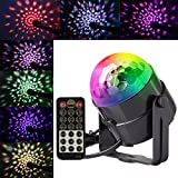Small Disco Ball-Mini Disco Ball Portable,Led Disco Ball for Party ,Sound Activated Led Disco Ball Lamp for dj Karaoke Christmas, Mini Disco Light with Wireless Remote 5W ,7 RGB Color Groups