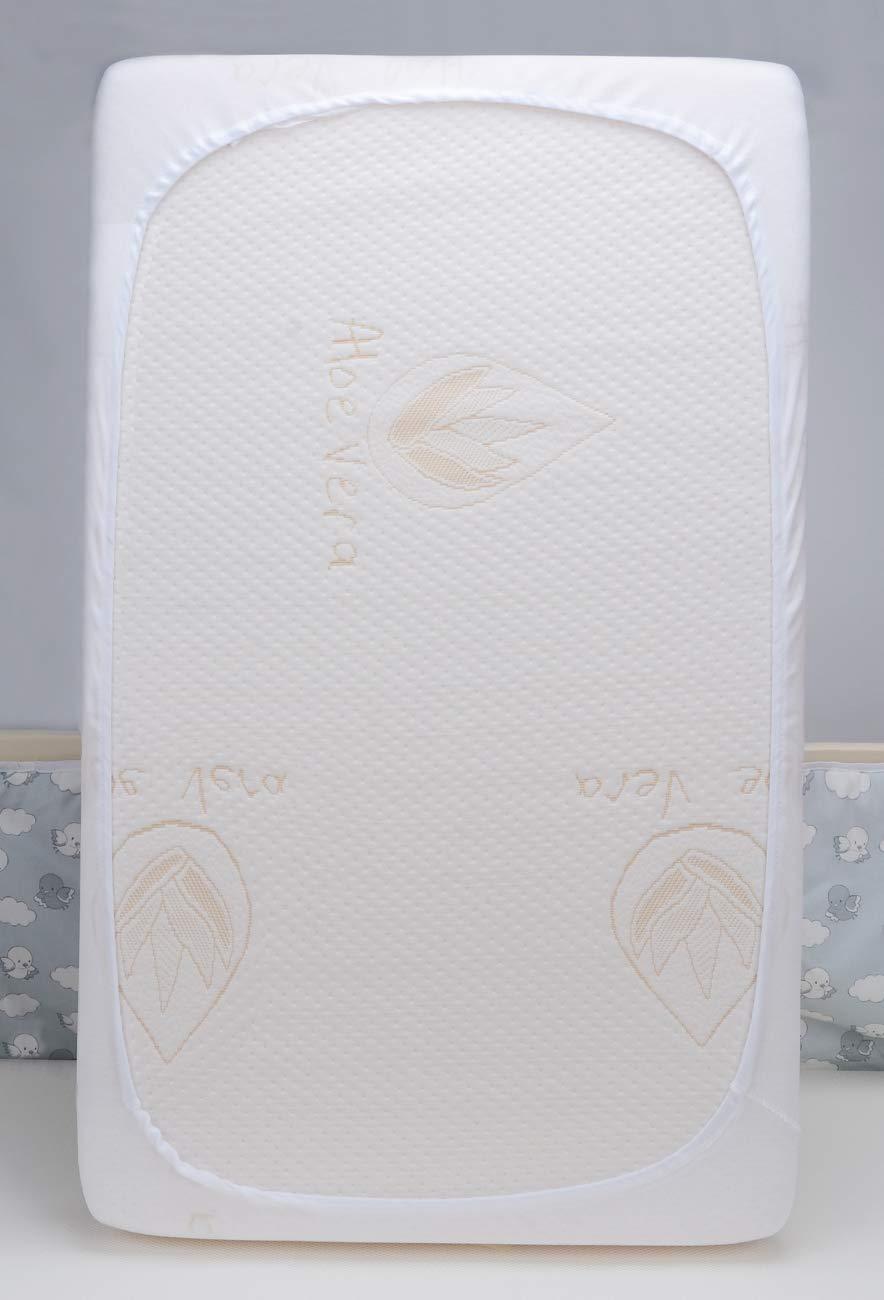 PEKITAS Matratzenschoner Kinderbett Wiege 70x140 cm Gepolstert Wasserdichter 100/% Baumwolle wei/ß