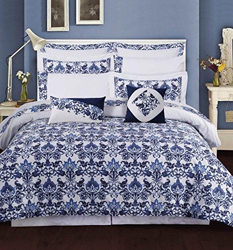 Set Catalina Sheet (TRIBECA LIVING Catalina Cotton 12 Piece Bedding Set, Queen)