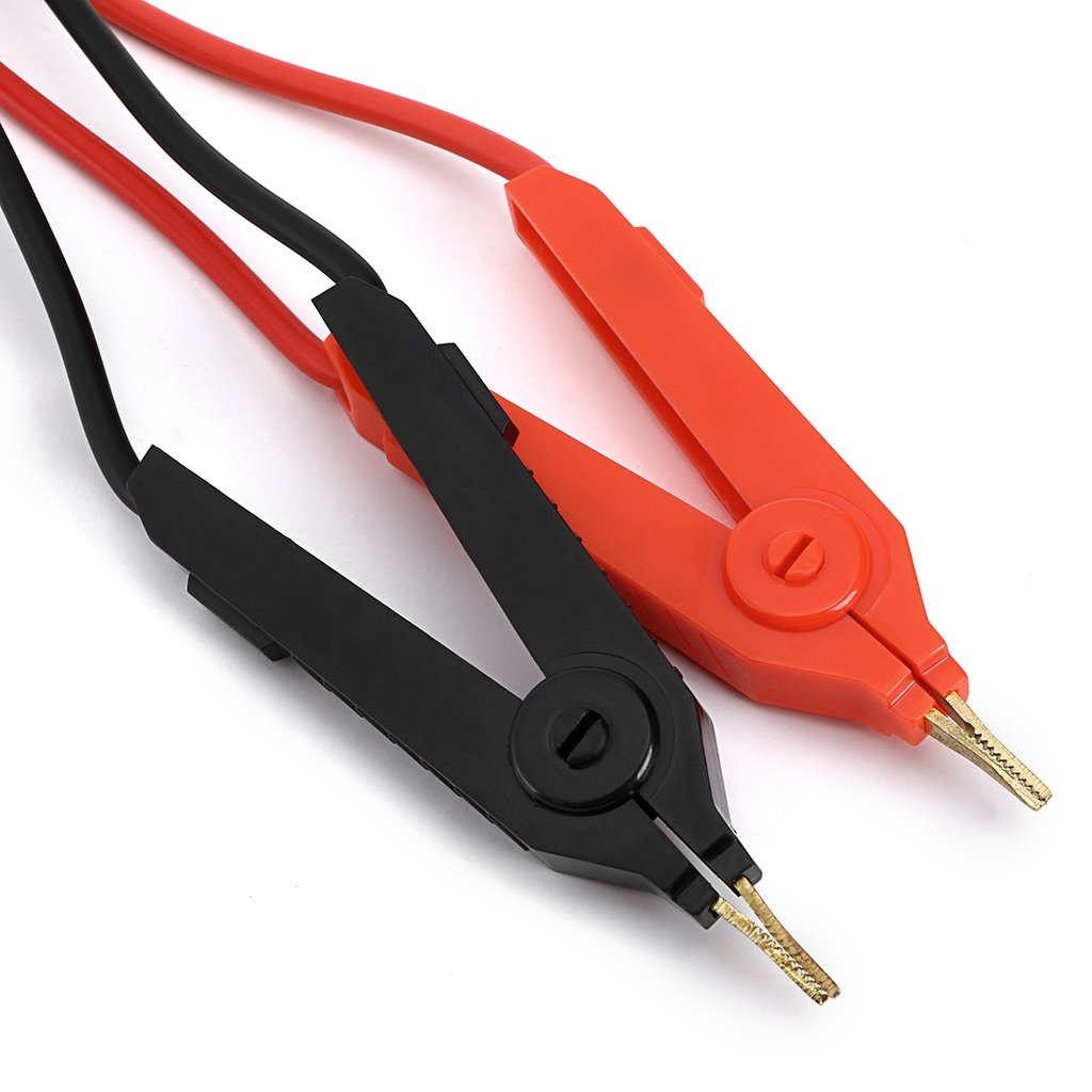 Low Resistance Test Leads Cable For Terminal Kelvin Test Sumnacon LCR Meter Test Lead Kelvin Alligator Clip To 4-channel 4mm Banana Plug