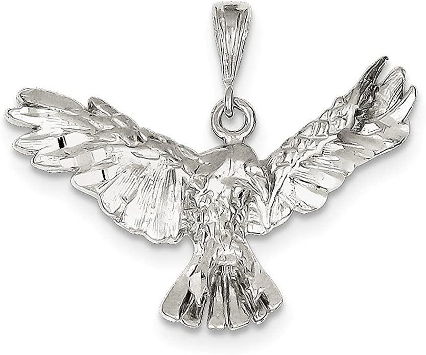 Lex /& Lu Sterling Silver Eagle Pendant LAL106985