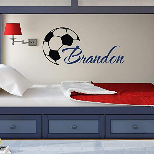 Cool football Art Boys Nombre Tatuajes de pared con balón de ...