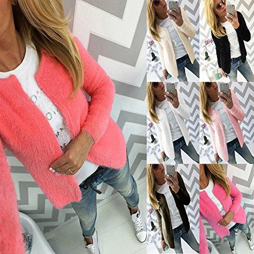 Solido A Rosa Rossa Maglie Sweater Donnamanica Cappotti Cardigan Giacche Manica Maglieria Di Lunga Autunno Colore Ozw6qgIqP