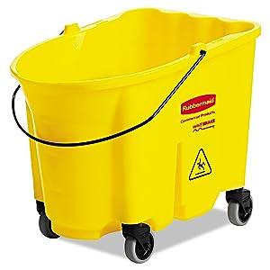 Rubbermaid Commercial RCP 7570-88 YEL WaveBrake Bucket, 8.75 gal, Yellow
