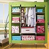 Generic New Super Large Triple Portable Wardrobe Armoire Reinforced Folding Clothes Closet Rack