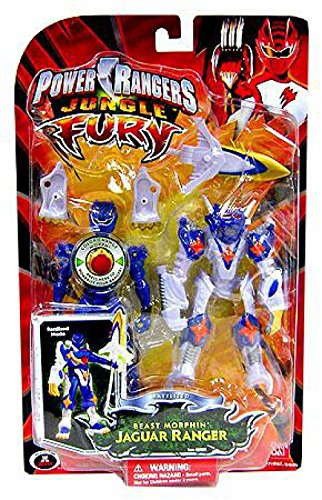 Power Rangers Jungle Fury Battalized Beast Morphin Tiger Ranger Action Figure (Power Rangers Morpher Dvd)