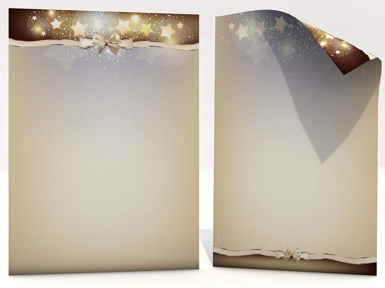 20 fogli polvere di stelle, stampa su entrambi i lati, carta da lettere di Natale, 100 g/m² . 100g/m². paperandpicture.de