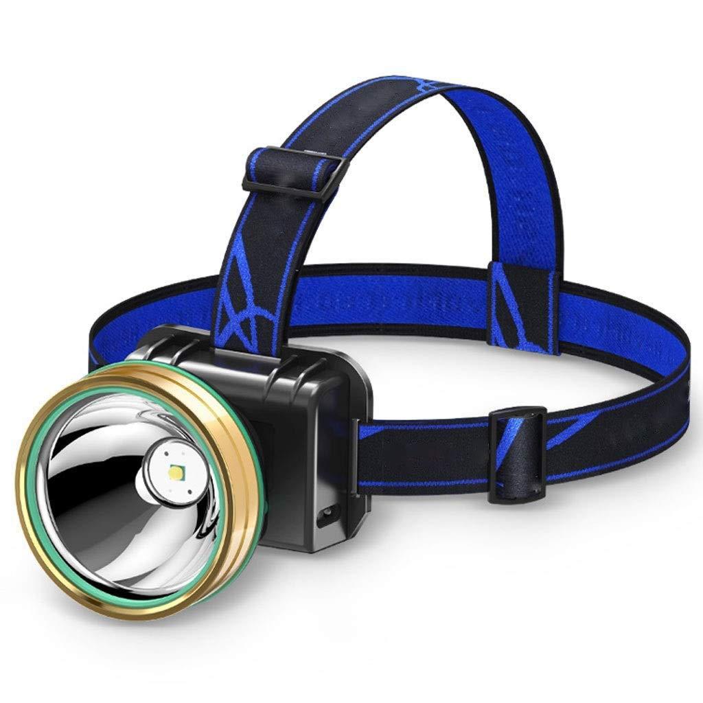 Can sense 9000W blanc lumière  YDXYZ Lampe frontale à DEL, Double lampe multifonctions pour la pêche en montagne Pêche Interrupteur à induction à gradation, Résistant à l'eau, pour la course, le camping, la ran