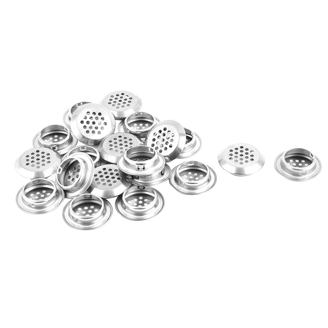 uxcell Stainless Steel Household Bathroom Round Mesh Hole Sink Residue Strainer 20pcs