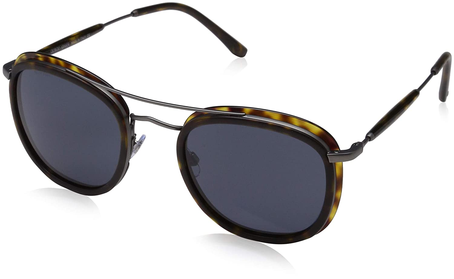 Amazon.com: Giorgio Armani Mens 0AR6054 Matte Black/Brown ...