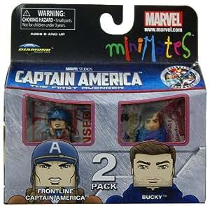 Minimates Marvel Comics Series 40 Captain America - Frontline Captain America and Bucky 2 pack Mini Figure