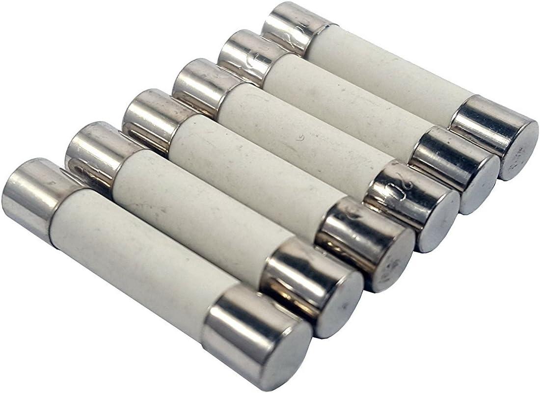 20 Amp Zephyr Fast Acting Ceramic Cartridge Fuse 6x30mm 250V Pack of 6