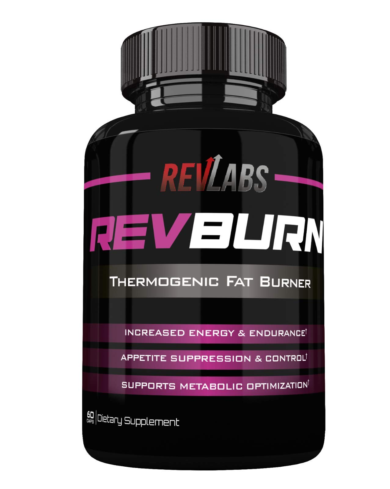 Rev Labs | Rev Burn | Thermogenic Fat Burner | The #1 Ground Breaking Fat Burning Amplifier Diet Pill for Men and Women, Carb Blocker & Appetite Suppressant, Weight Loss Pills, 60 Cap by Rev Labs