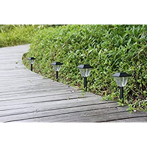 61eJ6NGgF7L. SS300  - Solar Square Garden Lights Waterproof - Kinna 6 Pieces Outdoor Wireless Black Solar Landscape Lighting Warm Lights For Patio Pathway Driveway Lawn Decorative Lights with 1-year warranty