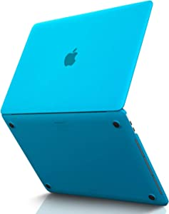 Kuzy MacBook Pro 15 inch Case 2019 2018 2017 2016 Release A1990 A1707, Hard Plastic Shell Cover for Newest MacBook Pro 15 case with Touch Bar Soft Touch - Aqua