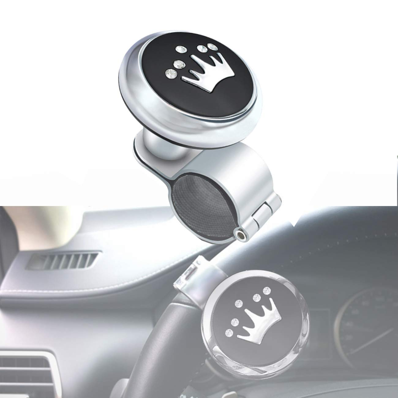 ALAVENTE Steering Knob, Steering Spinner Wheel Knob Steering Ball Universal for Car
