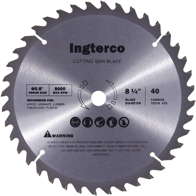 7. INGTERCO 8-¼ Inch Saw Blade