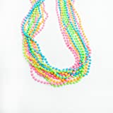 Lot Of 12 Assorted Neon Beaded Necklaces