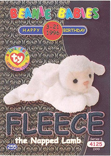 TY Beanie Babies BBOC Card - Series 2 Birthday (SILVER) - FLEECE the Napped - Ty Beanie Babies Fleece
