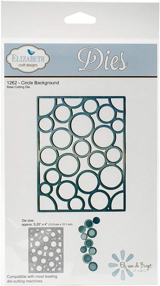 5.25x4 Elizabeth Craft Metal Die-circle Background