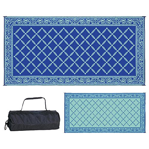 Reversible Mats 119183 Outdoor Patio 9-Feet x 18-Feet, Blue/light-Green RV Camping Mat