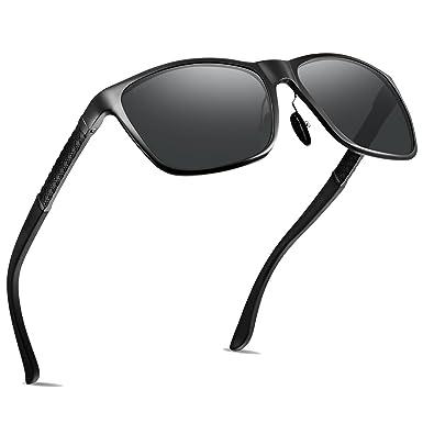 e49fc1f2fdc Polarized Sunglasses UV400 Protection Anti-reflective Lens Adjustable Black  (black-2)