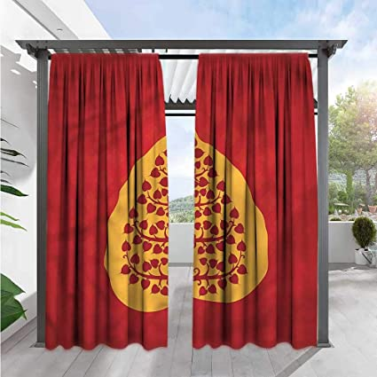 Amazon.com : Marilds Leaf Exterior/Outside Curtains Artistic ...