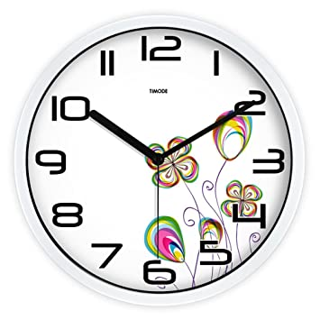 CC Timode Super Silencioso Muro relojes marcando no barrido tranquila relojes decorativos para el Salón Dormitorio