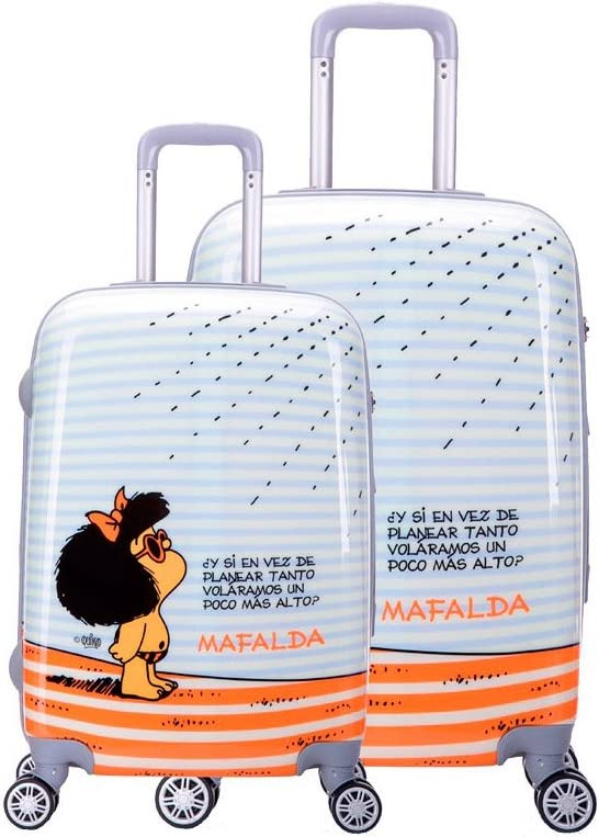 Juego Maletas Cabina-Mediana 4R Mafalda Tarifa