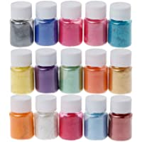 Amaae®® 15 Colors Powder Dyes Epoxy Resin Pearl Natural Micas Powder Pigment(Multicolor)