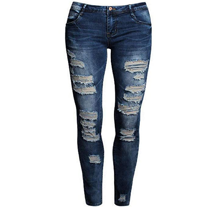 Huixin Pantalones Vaqueros Moda para Mujer Pantalones Lápiz ...