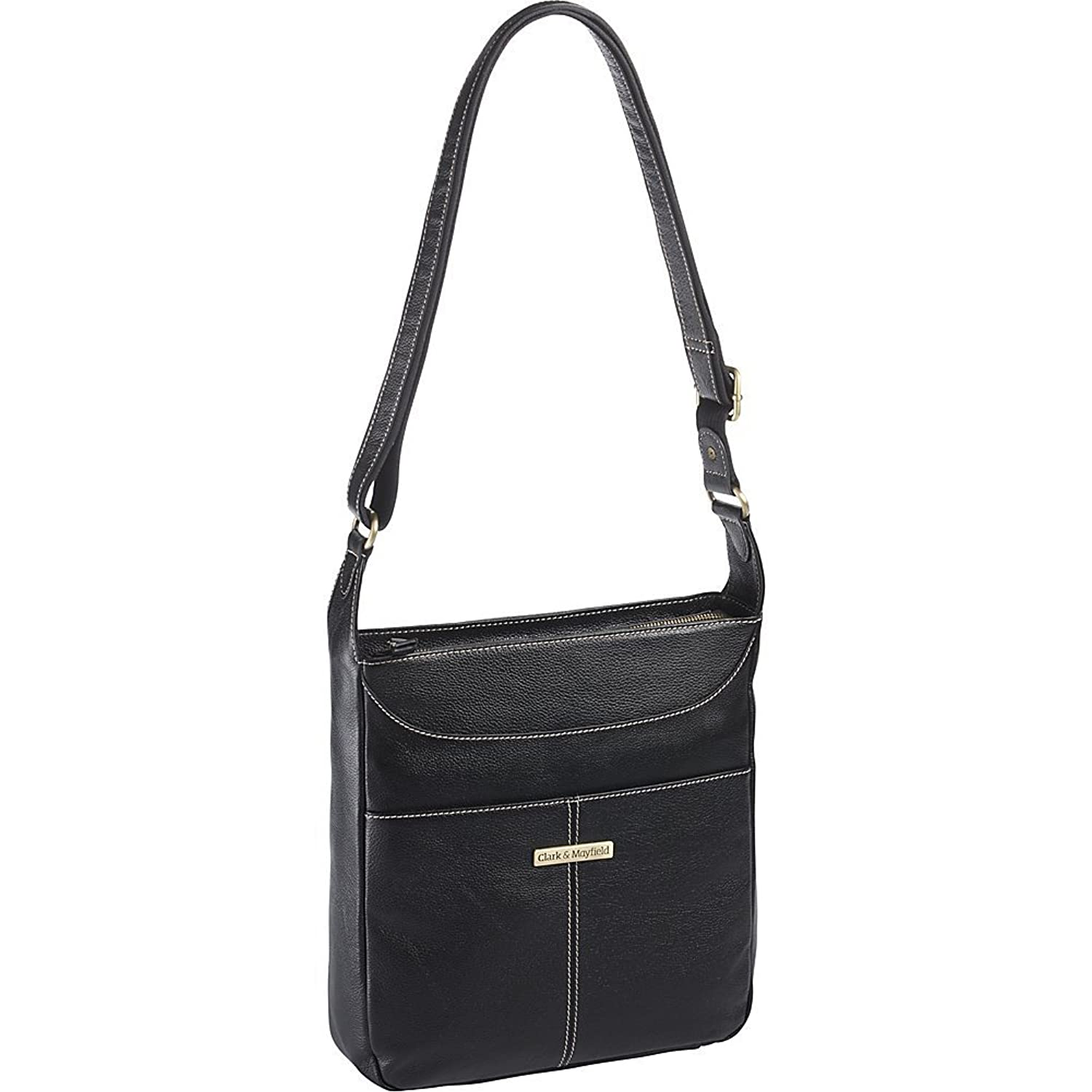 Amazon.com | Clark & Mayfield Morrison Leather Tablet Crossbody, Shoulder  Bag in Black | Messenger Bags